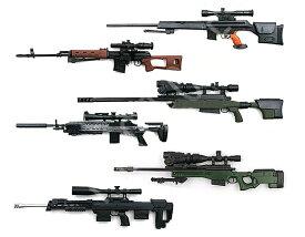 1/6スナイパーライフルコレクション 6点セット 色分け済みプラモデル リアルな造形 可動式 武器 銃