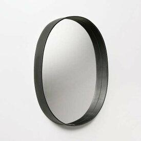 MOHEIMOVAL MIRROR (ブラック)ウォールミラー楕円レザーフレーム牛革インテリア送料無料レザー職人手作業手縫いギフト プレゼント