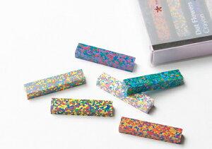 AOZORADot Flowers Crayon [ドットフラワーズクレヨン]ステーショナリーモザイク状の美しいクレヨンギフト プレゼント文房具