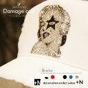 送料無料 ダメージキャップ スワロフスキー 帽子デコ 選べるカラー キャップデコ マリリンモンロースターデザイン プレゼント