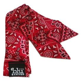 Blubandoo neck cooling scarf Coolmax scarf Cooling Neckwear【G】Red Bandana design prints Neck Wrap 冷却 クールスカーフ 首ひんやりタオル アメリカ製 暑さ対策 クールタオル 繰り返し使える【定形外で送料無料】