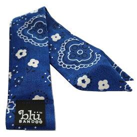 冷却 クールスカーフ 首ひんやりタオル 【デザインH】Royal Blue Floral柄 アメリカ製 暑さ対策 クールタオル 繰り返し使える【定形外送料無料】