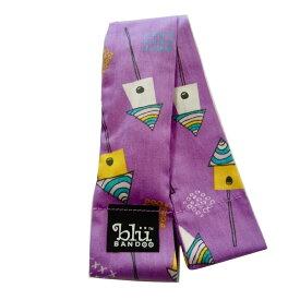 Blubandoo neck cooling scarf Coolmax scarf Cooling Neckwear【K】Lilac Birdhouses design prints Neck Wrap 冷却 クールスカーフ 首ひんやりタオル アメリカ製 暑さ対策 クールタオル 繰り返し使える【定形外で送料無料】