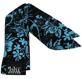 Blubandoo neck cooling scarf Coolmax scarf Cooling Neckwear 【T】Black aloha seas design prints Neck Wrap 冷却 クールスカーフ 首ひんやりタオル アメリカ製 暑さ対策 クールタオル 繰り返し使える【定形外で送料無料】