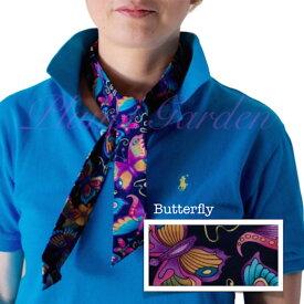 【定形外発送】で送料無料 冷却 クールスカーフ 首ひんやりタオル 【デザインU】Butterfly柄 アメリカ製 暑さ対策 クールタオル 繰り返し使える