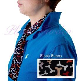 Blubandoo neck cooling scarf Coolmax scarf Cooling Neckwear 【V】Bone design prints Neck Wrap 冷却 クールスカーフ 首ひんやりタオル アメリカ製 暑さ対策 クールタオル 繰り返し使える【定形外で送料無料】