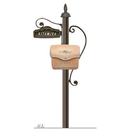 機能門柱+ポスト シャルルポール12Aセット(郵便ポスト+ポール+表札)送料無料