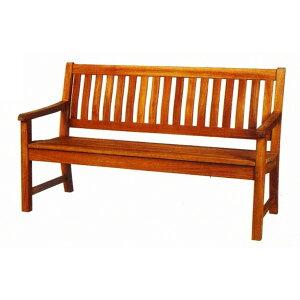 ガーデンチェアー ラウンドハウス ベンチ 150 オイル加工なし チーク材 お庭向けの椅子