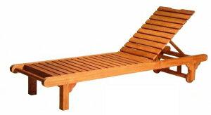 ベンチ ロンガー オイル加工なし チーク材 お庭向けの椅子・ガーデン チェアー ハラダ グランピング ベランピング おうちキャンプ [送料無料]