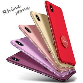 iPhone xr ケース リング付きhoneXs ケース iphone8ケー ラインストーン iPhoneXs Max iPhone7 ケース リング付き iphone8 plus ihone7 plus ケース iphone6ケース iphone6s スマホ アイフォン7 プラス ソフト シリコン おしゃれ かわいい キラキラ