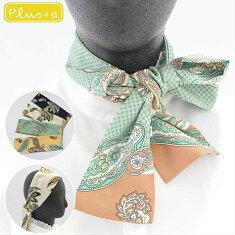 【リボンスカーフ】細スカーフタイリボンヘアアクセ
