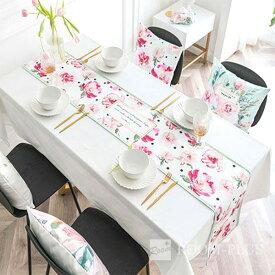 テーブルランナー ボタニカル ピンク 送料無料 花柄 テーブルマット テーブルクロス ダイニングテーブル 30cm×160cm 180cm 200cm 220cm table-r0103 新生活