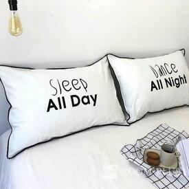 枕カバー 枕ケース まくらカバー ホワイト モノトーン 寝室 ベッド用品 ベッドインテリア 大型ピローケース pillow-0009 新生活