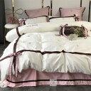 布団カバー 4点セット 送料無料 ダブル Mサイズ ピンク ブルー 2色 お得用 bedding-0534 新生活