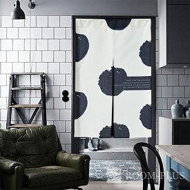 のれん 暖簾 カフェカーテン 間仕切り モノトーン 白黒 パーテーション noren-0080