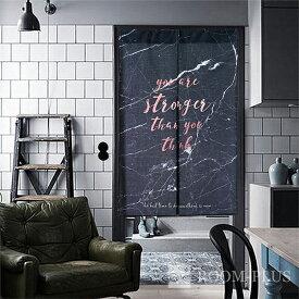 のれん 暖簾 カフェカーテン 間仕切り モノトーン 白黒 パーテーション noren-0083