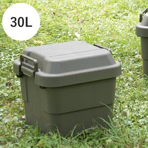 収納ボックス 30L トランクカーゴ Nash フタ付き 耐荷重100kg 丈夫 おしゃれ アウトドア DIY 工具 防災グッズ 収納 ストレージボックス 収納ケース カラーボックス 衣装ケース