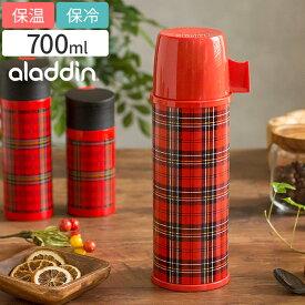 水筒 aladdin アラジン ヘリテイジボトル 0.7L 保温 保冷 コップ付き レッドチェック 魔法瓶