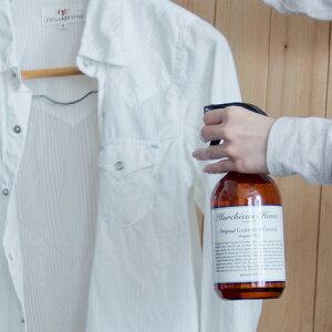 衣類用 お手入れ スプレー 480ml マーチソンヒューム ガーメントグルーム 抗菌 防臭 防シワ ギフト ボトル おしゃれ 衣類 スーツ ジャケット おしゃれ着 天然成分