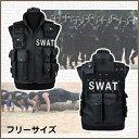 ハロウィン SWAT ベスト スワット コスプレ 衣装 メンズ レディース コスチューム サバゲー ミリタリー 特殊部隊 黒装備 警察 タクティ…