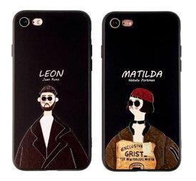 iphone ケース おもしろ LEON 黒 iPhone 5 se 6 7 8 X XR XS XSMax Plus ケース 黒 耐衝撃 スマホケース アイフォン カバー 軽量 韓国 おしゃれ かわいい 映画 レオン マチルダ 誕生日 記念日 select ギフト プレゼント などに