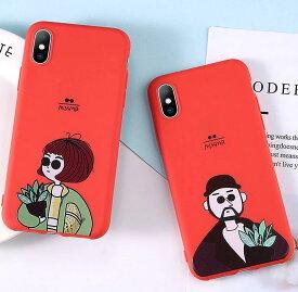 iphone ケース おもしろ LEON iPhone 7 8 X XR XS XSMax ケース 赤 耐衝撃 スマホケース アイフォン カバー 軽量 おしゃれ かわいい 韓国 映画 レオン マチルダ 誕生日 記念日 select ギフト プレゼント などに