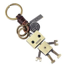 キーホルダー おしゃれ 萌えグッズ キーリング かわいいロボット 革 レディース 鍵揃い レトロ風 小物 合金製 メタリック 誕生日 記念日 select ギフト プレゼント