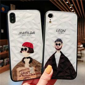 iphone ケース おもしろ LEON iPhone 7 8 X XR XS XSMax ケース キラキラ白 耐衝撃 スマホケース アイフォン カバー 軽量 おしゃれ かわいい 映画 韓国 レオン マチルダ 誕生日 記念日 select ギフト プレゼント