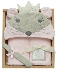 【送料無料】ベビーバスラップ ギフトセットプリンセスマウス 61230 Elegant Baby プレゼントギフト 赤ちゃん用 バスローブ ぬいぐるみ 新生児 ベビー服 おしゃれ かわいい おくるみ 着ぐるみ 出産祝い