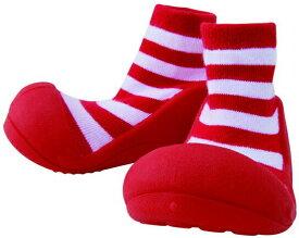【送料無料】ベビーフィート カジュアルレッド 11.5cm 赤ちゃん用 トレーニングシューズ ベビー用品 Baby feet プレゼント