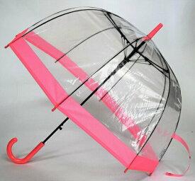 【送料無料】 レディース傘 バードケージ ピンク 60cm 親骨は軽くて折れにくいグラスファイバー使用 CFDLK-004-2 Cafe dimly かさ カサ 女性用 ビニール傘 プレゼント