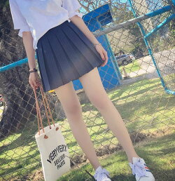 プリーツスカートミニスカートミニ丈スカートピンストライプスカートレディースボトムスシンプル紺スクールガールプレッピー学生可愛い定番きれいめカジュアル