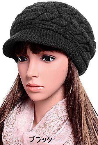 送料無料 ニット帽 ニットキャップ キャスケット つば付き レディース 帽子 キャップ シンプル 無地 小物 防寒 あったか 秋冬 上品 カジュアル 大人カジュアル 7カラー