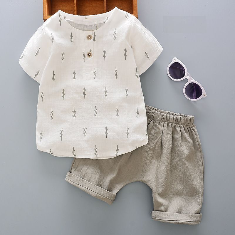 送料無料 セットアップ キッズ 男の子 ボーイ セット シャツ ズボン 半袖 夏 涼しい レディース シンプル おしゃれ 可愛い 子供 ボトムス トップス Tシャツ
