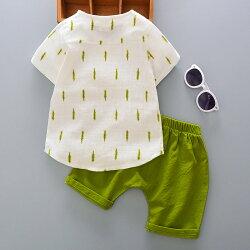 セットアップキッズ男の子ボーイセットシャツズボン半袖夏涼しいレディースシンプルおしゃれ可愛い子供ボトムストップスTシャツ