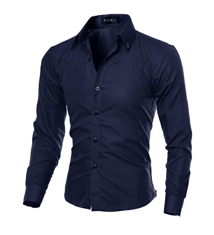 シャツ ワイシャツ トップス 長袖 メンズ 男性 おしゃれ かっこいい 細身 デザイン M L XL XXL 3XL 4XL 5XL ホワイト ブラック ワインレッド ブルー ネイビー