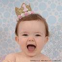 送料無料子供 ヘアアクセサリー 飾り 帽子 王冠 フェルト お花 バラ 誕生日 1歳 2歳 3歳 ハーフバースデー 無地 メモ…