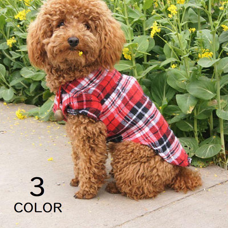 犬服 ドッグウェア チェックシャツ シャツ 長め チェック柄 タータンチェック スナップボタン 犬用品 ペット用品 犬 いぬ ドッグ 小型犬 可愛い かわいい かっこいい おしゃれ オシャレ レッド グリーン ブルー 赤 緑 青