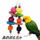 楽天市場 送料無料鳥のおもちゃ バードトイ 鳥用 オウム インコ 玩具 グッズ ペット用品 ペットグッズ 揺らす 揺れる かじる 遊ぶ 楽しい かわいい フック 木製 ビーズ 鐘 音 鳴る 吊るす Plus Nao