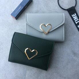 財布 レディース 三つ折り コンパクト 女の子 おしゃれ 可愛い かわいい カード入れ 高校生 中学生 プレゼント ハート