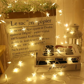 送料無料イルミネーションライト LEDライト 電池式 星型 スター ハロウィン クリスマス 1.5m 3m 4.5m デコレーション 飾り付け 電飾 パーティー イベント インテリア ガーランド照明 室内用 屋内用 装飾 ロープライト ハロウィーン Ha