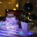 イルミネーションライト LEDライト 防水 クリスマス ハロウィン 1m 2m 3m デコレーション 飾り付け 電飾 電池式 パー…