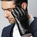 送料無料スマホ手袋 スマホ対応 メンズ手袋 手袋 メンズ PUレザー フェイクレザー ノーマル 裏起毛 てぶくろ 手ぶくろ…