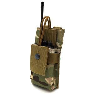 送料無料ラジオポーチ 無線機ポーチ トランシーバーポーチ モールシステム対応 MOLLE対応 サバイバルゲーム サバゲー装備 ミリタリー タクティカル 小型 モール対応 迷彩柄 カモフラージュ