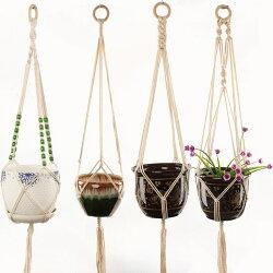 送料無料プラントハンガーハンギングプランターインテリア雑貨植物ハンガーネット吊るすナチュラルハンガーネット選べるデザインリラックス部屋家かわいい