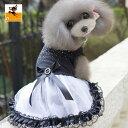 送料無料ドッグウエア ペット用ドレス 犬 犬服 ペット服 ペットウエア レース ペット フリル かわいい ゴスロリ リボン
