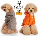 ドッグウェア パーカー 半袖 フード付き スナップボタン ペットウェア 犬服 犬用 猫用 洋服 シンプル 無地 単色 ソリ…