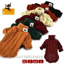 送料無料ペット用 犬用 洋服 ニットセーター タートルネック 長袖 プルオーバー 防寒 寒さ対策 暖かい あったかい シ…