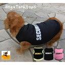 ペット用 犬用 洋服 ドッグウエア タンクトップ ベスト 袖なし トレーナー プルオーバー ノースリーブ 英字ロゴ SECUR…