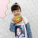 送料無料ポシェット ショルダーバッグ キッズ 子供 女の子 女児 カバン 鞄 肩掛け 可愛い おしゃれ ブラッドオレンジ …